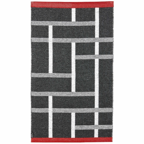 Horredsmattan Washable Swedish FLOOW Plastic Rug - B&W ASK - 6 Sizes