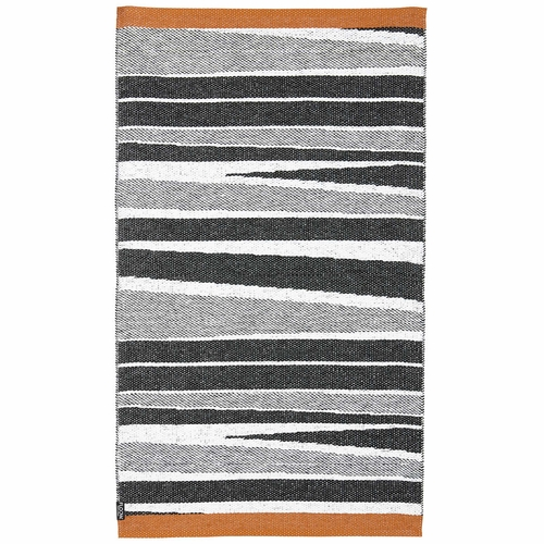 Horredsmattan Washable Swedish FLOOW Plastic Rug - B&W GRO - 6 Sizes