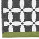 Horredsmattan Washable Swedish FLOOW Plastic Rug - B&W TYR - 6 Sizes