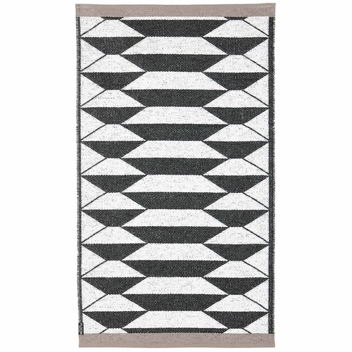Horredsmattan Washable Swedish FLOOW Plastic Rug - B&W URD - 6 Sizes