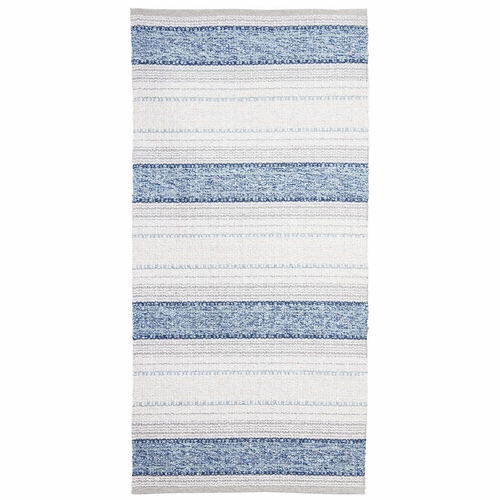 Horredsmattan Washable Swedish Mixed Rug - Anna Blue - 14 Sizes