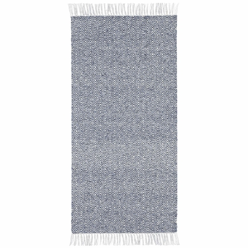 Horredsmattan Washable Swedish Mixed Rug - Goose Blue - 18 Sizes