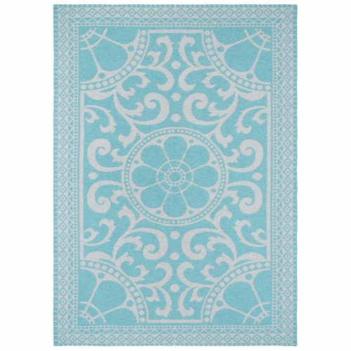 Horredsmattan Washable Swedish Plastic Rug - Barock Turquoise - 5 Sizes