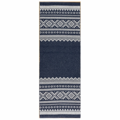 Horredsmattan Washable Swedish Plastic Rug - Bjorn Blue - 5 Sizes