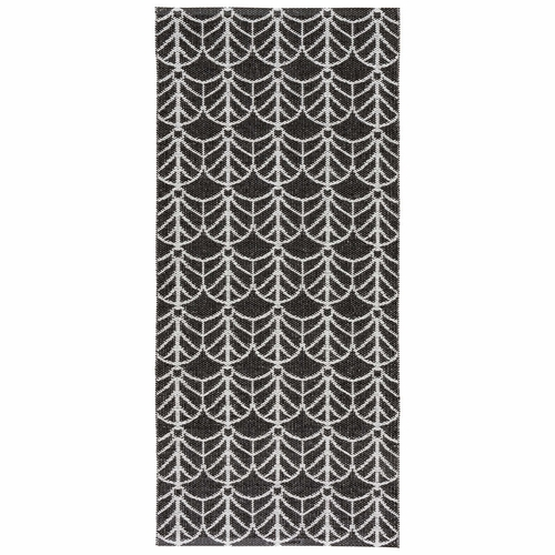 Horredsmattan Washable Swedish Plastic Rug - Deco Black - 16 Sizes