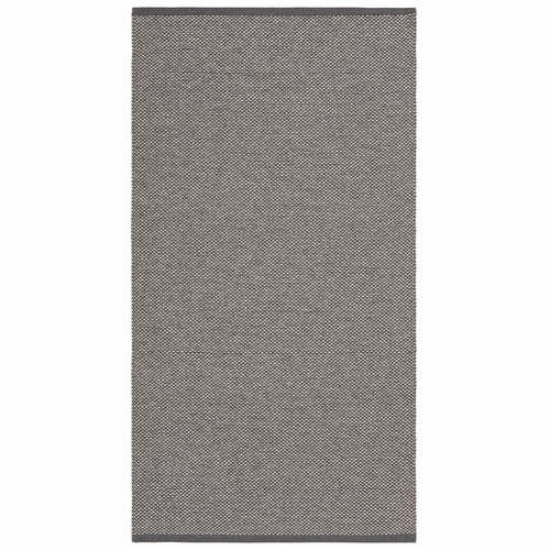 Horredsmattan Washable Swedish Plastic Rug - Estelle Dark Grey - 9 Sizes