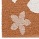 Horredsmattan Washable Swedish Plastic Rug - Flower Rust - 13 Sizes