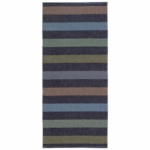 Horredsmattan Washable Swedish Plastic Rug - Happy Graphite - 18 Sizes