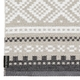 Horredsmattan Washable Swedish Plastic Rug - Marit Grey/Black - 6 Sizes