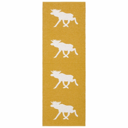 Horredsmattan Washable Swedish Plastic Rug - Moose Mustard - 9 Sizes