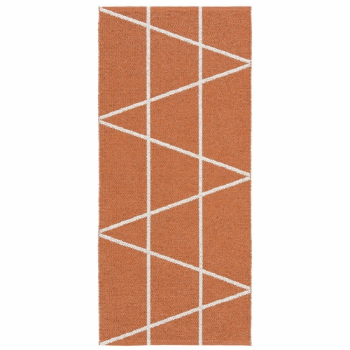 HRD Swedish Plastic Rug Viggen, Orange - 14 Sizes