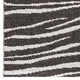 Horredsmattan Washable Swedish Plastic Rug - Zebra Black - 5 Sizes