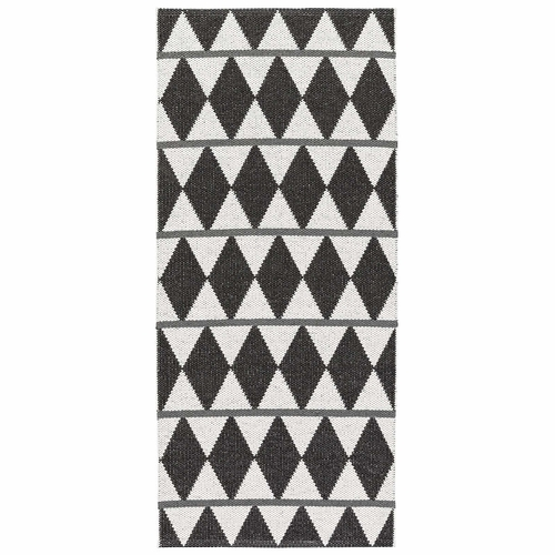 Horredsmattan Washable Swedish Plastic Rug - Zigge Black - 16 Sizes