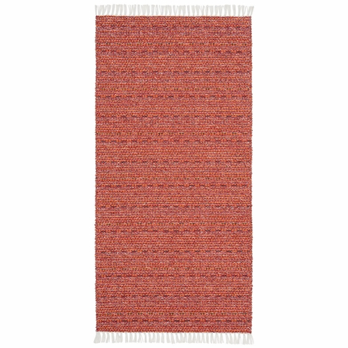 Horredsmattan Washable Swedish Mixed Rug - Svea Red - 15 Sizes