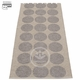 Hugo Plastic Rug - Mud Metallic/Mud, 2 1/4' x 10 1/2'