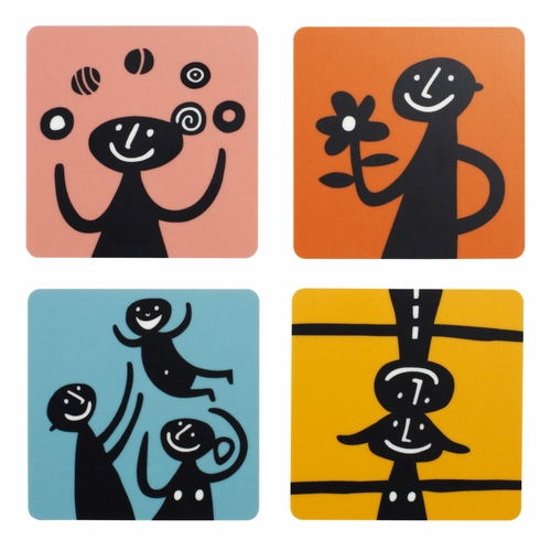 Humans Coasters, Set of 4