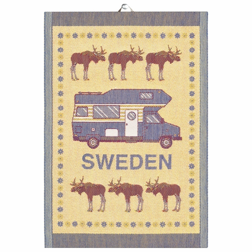 Ekelund Weavers Husbil Tea Towel, 14 x 20 inches