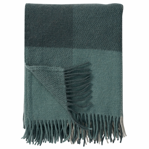Inez Brushed Lambs Wool Throw, Green