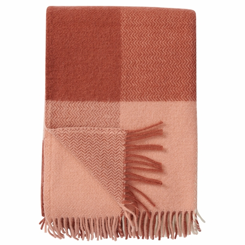 Inez Brushed Lambs Wool Throw, Nude