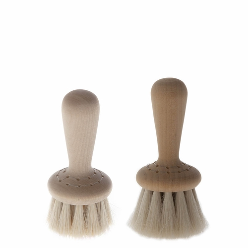 Iris Hantverk Wet-Use / Dry-Use Knob Face Brush Set, Oil Treated Birch