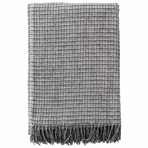 Klippan Java Wool/Bamboo Blanket, Grey