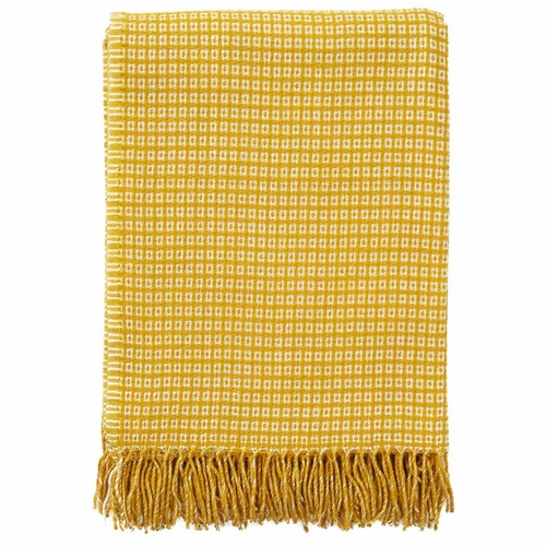 Klippan Java Wool/Bamboo Blanket, Yellow