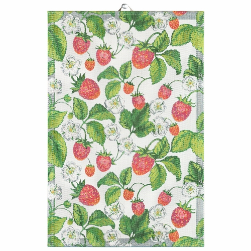 Ekelund Weavers Jordgubbar Tea Towel, 16 x 24 inches