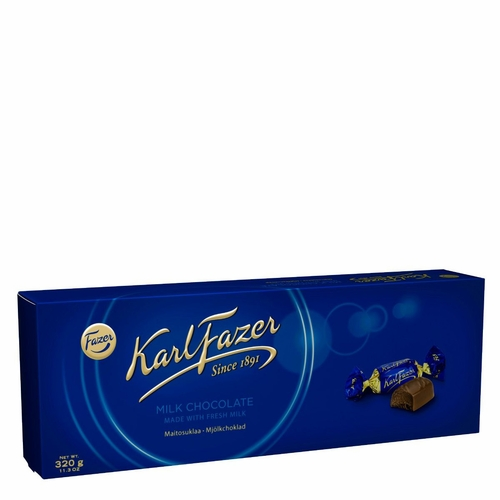 Karl Fazer Milk Chocolate Holiday Gift Box, 43 Pieces