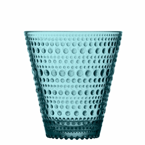 Iittala Kastehelmi Tumbler (10 oz) Sea Blue, Set of 2