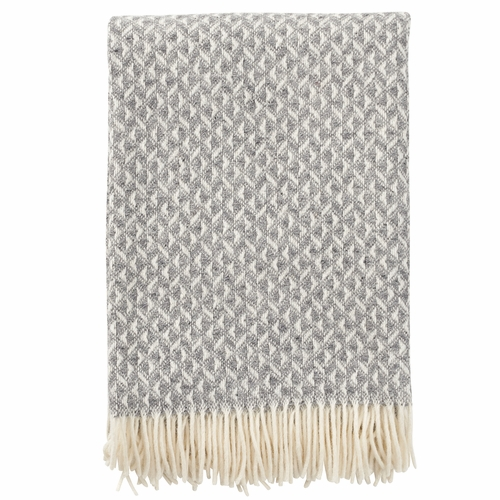 Klippan Anna Lambs Wool Throw, Grey
