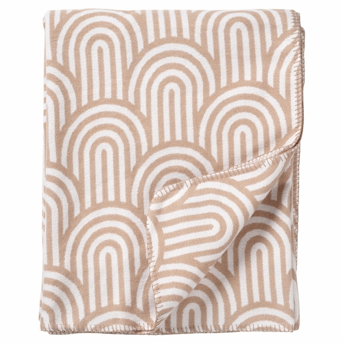 Klippan Arcade Organic Brushed Cotton Blanket, Beige