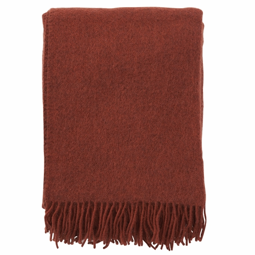 Klippan Brushed Gotland Wool Throw, Rust