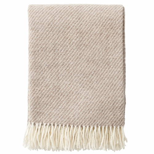 Klippan Classic Brushed Merino & Lambs Wool Throw, Brown