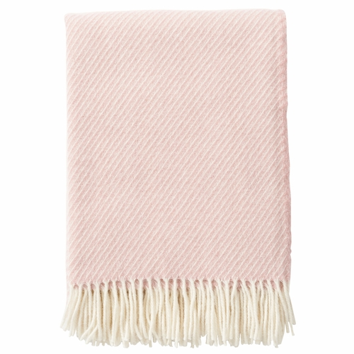 Klippan Classic Brushed Merino & Lambs Wool Throw, Pink