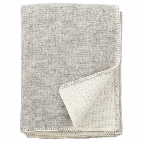Klippan Harmony Brushed ECO Lambs Wool Throw, Grey