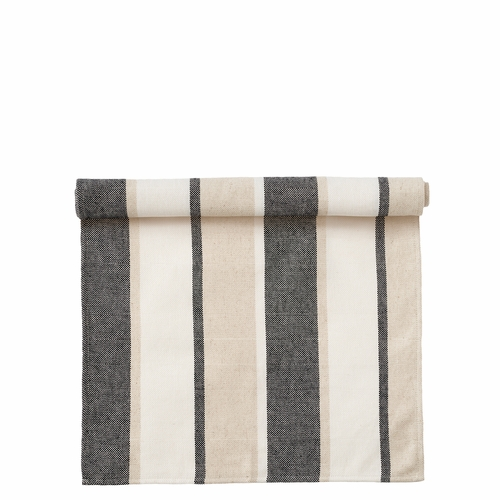 Klippan June Cotton/Linen Table Runner, Black