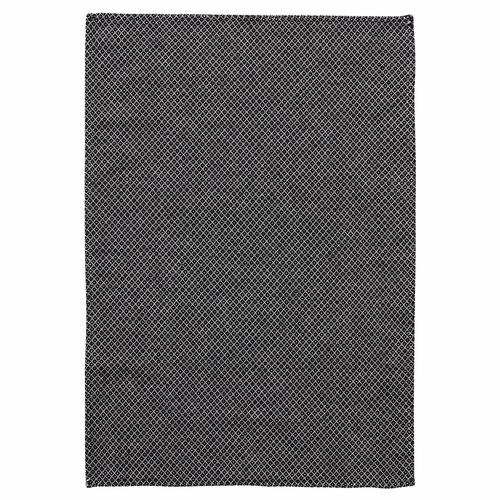 Klippan Peak Cotton & Linen Mix Kitchen Towel, Black