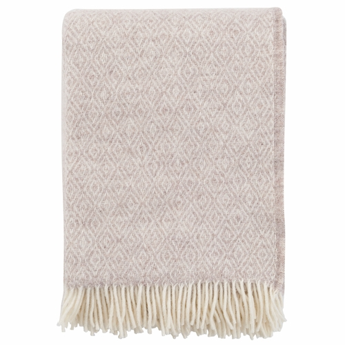 Klippan Stella Brushed Lambs Wool Throw, Beige