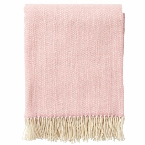 Klippan Tippy Brushed Cashmere & Merino Wool Throw, Pink