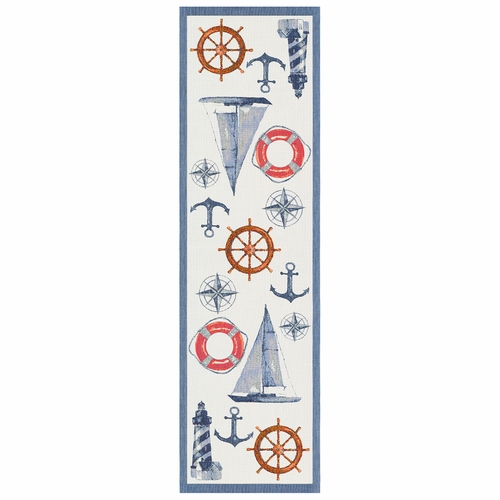 Ekelund Weavers Kompass Table Runner, 14 x 47 inches