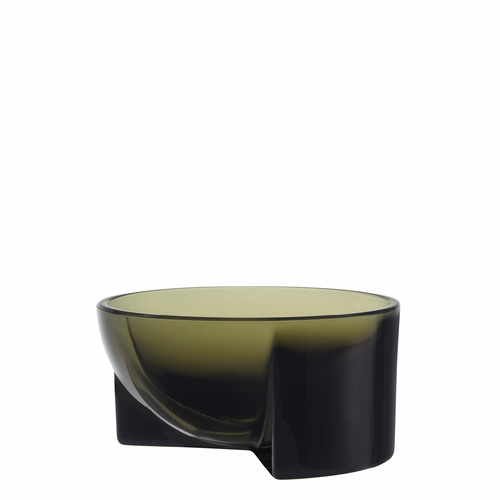 "Kuru Glass Bowl 5"" x 2.25"", Moss Green"