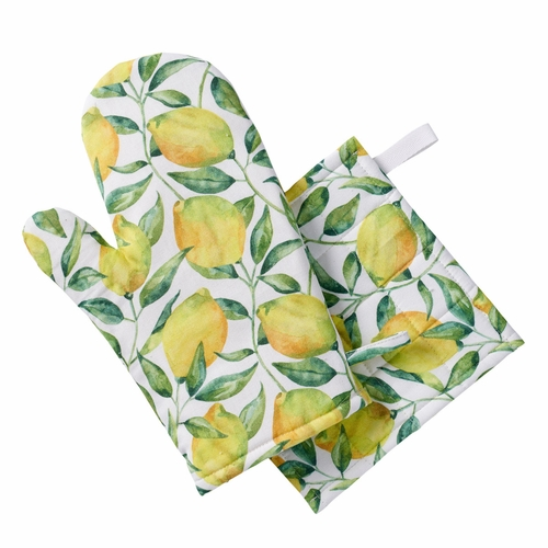 Klippan Lemon Tree Oven Glove & Potholder Set