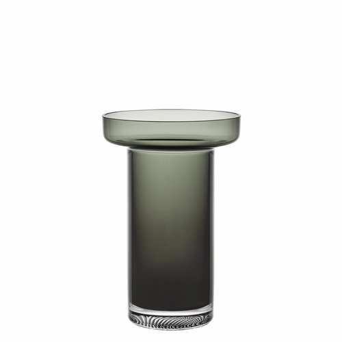Kosta Boda Limelight Rose Vase - Smoke Grey