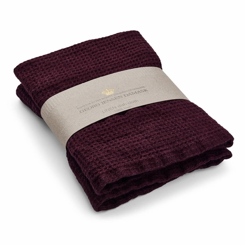Georg Jensen Damask Linen Cloth, Wine - Set of 2