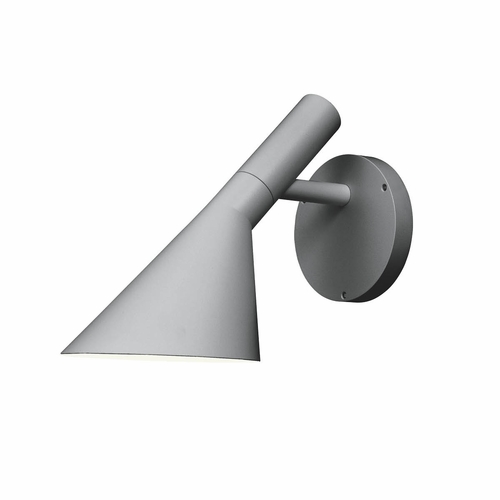 Louis Poulsen AJ 50 Outdoor Wall Lamp, Natural Painted Aluminum