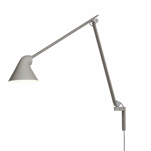 Louis Poulsen NJP Wall Lamp, Light Grey - Long Arm (3000 Kelvin)