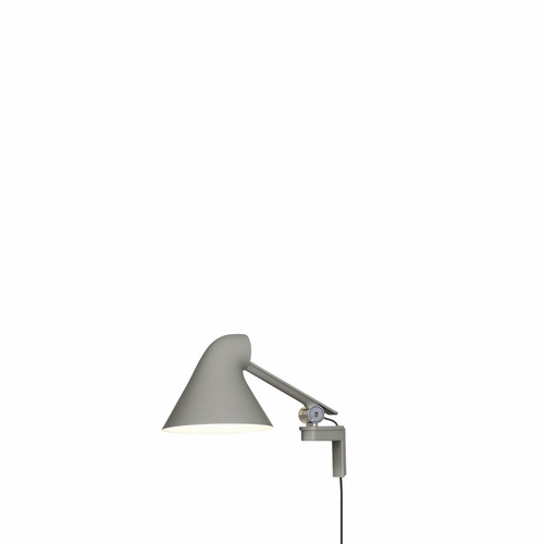 Louis Poulsen NJP Wall Lamp, Light Grey - Short Arm (2700 Kelvin)