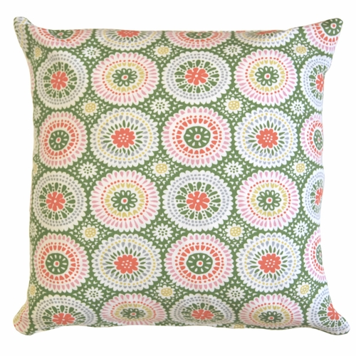 Klippan Louise Green Printed Cushion Cover
