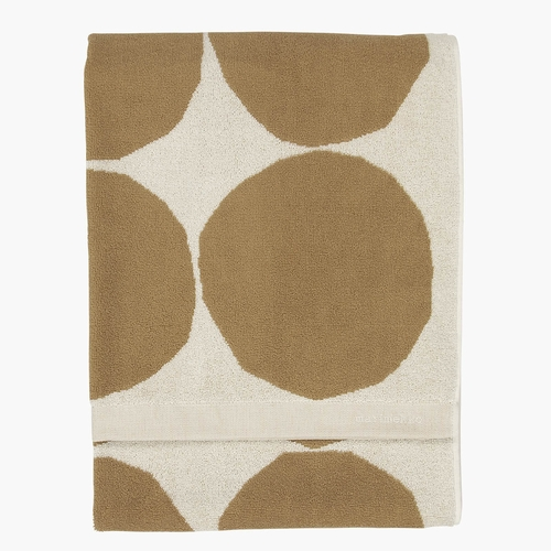 Marimekko Kivet Bath Towel, Cotton / Beige - Set of 2