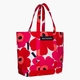 Marimekko Peruskassi Pieni Unikko Large Heavyweight Canvas Beach or Picnic Tote Bag - White / Red